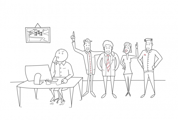Whiteboard Video - Getekende uitleg Team Informatie